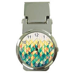 Background Geometric Triangle Money Clip Watches