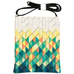 Background Geometric Triangle Shoulder Sling Bags