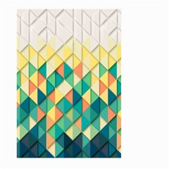 Background Geometric Triangle Large Garden Flag (two Sides)