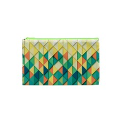 Background Geometric Triangle Cosmetic Bag (xs)