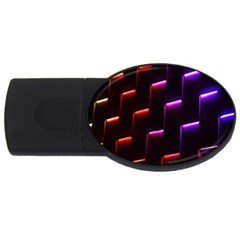 Mode Background Abstract Texture Usb Flash Drive Oval (2 Gb)