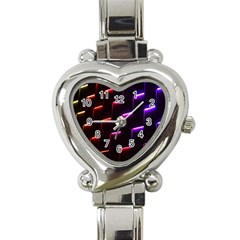 Mode Background Abstract Texture Heart Italian Charm Watch