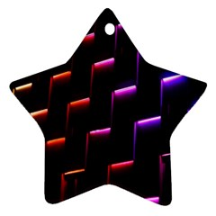 Mode Background Abstract Texture Star Ornament (two Sides)