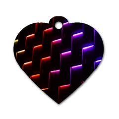 Mode Background Abstract Texture Dog Tag Heart (two Sides)