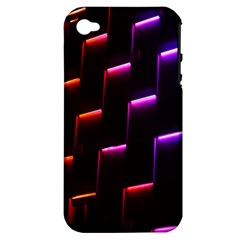 Mode Background Abstract Texture Apple Iphone 4/4s Hardshell Case (pc+silicone)