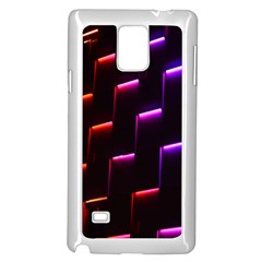 Mode Background Abstract Texture Samsung Galaxy Note 4 Case (white)