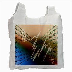 Pop Art Edit Artistic Wallpaper Recycle Bag (one Side)
