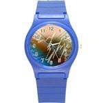 Pop Art Edit Artistic Wallpaper Round Plastic Sport Watch (S) Front