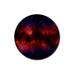 Astronomy Space Galaxy Fog Rubber Round Coaster (4 Pack)