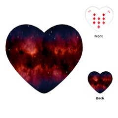 Astronomy Space Galaxy Fog Playing Cards (heart)