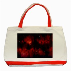 Astronomy Space Galaxy Fog Classic Tote Bag (red)