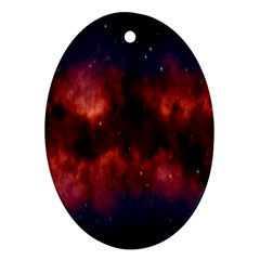 Astronomy Space Galaxy Fog Oval Ornament (two Sides)
