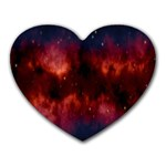Astronomy Space Galaxy Fog Heart Mousepads Front