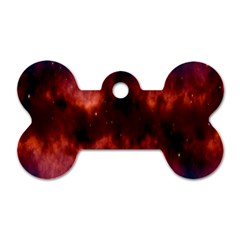 Astronomy Space Galaxy Fog Dog Tag Bone (two Sides)