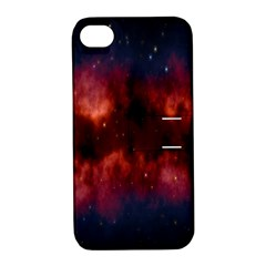 Astronomy Space Galaxy Fog Apple Iphone 4/4s Hardshell Case With Stand