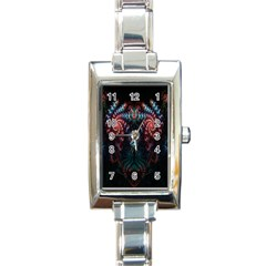 Abstract Background Texture Pattern Rectangle Italian Charm Watch