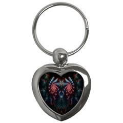 Abstract Background Texture Pattern Key Chains (heart)