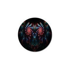 Abstract Background Texture Pattern Golf Ball Marker (4 Pack)