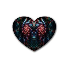Abstract Background Texture Pattern Rubber Coaster (heart)