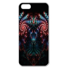 Abstract Background Texture Pattern Apple Seamless Iphone 5 Case (clear)