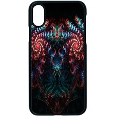 Abstract Background Texture Pattern Apple Iphone X Seamless Case (black)