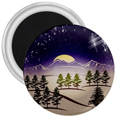Background Christmas Snow Figure 3  Magnets