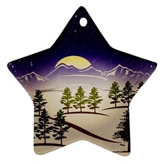 Background Christmas Snow Figure Ornament (star)