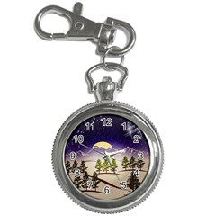 Background Christmas Snow Figure Key Chain Watches
