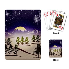 Background Christmas Snow Figure Playing Card