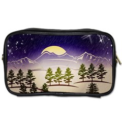 Background Christmas Snow Figure Toiletries Bags