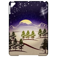 Background Christmas Snow Figure Apple Ipad Pro 9 7   Hardshell Case