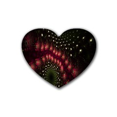 Background Texture Pattern Rubber Coaster (heart)