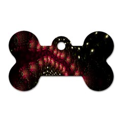 Background Texture Pattern Dog Tag Bone (one Side)