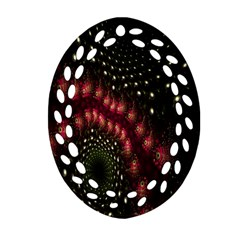 Background Texture Pattern Oval Filigree Ornament (two Sides)