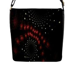Background Texture Pattern Flap Messenger Bag (l)