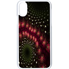 Background Texture Pattern Apple Iphone X Seamless Case (white)