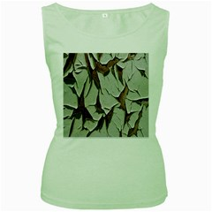 Dry Nature Pattern Background Women s Green Tank Top
