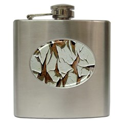 Dry Nature Pattern Background Hip Flask (6 Oz)