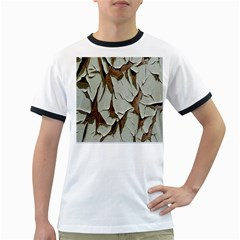 Dry Nature Pattern Background Ringer T Shirts