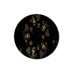 Fractal Art Digital Art Rubber Coaster (round)