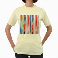 Background Decorate Colors Women s Yellow T Shirt