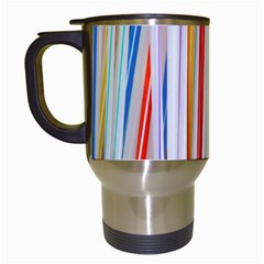Background Decorate Colors Travel Mugs (white)