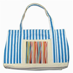 Background Decorate Colors Striped Blue Tote Bag