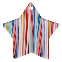 Background Decorate Colors Star Ornament (two Sides)