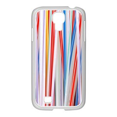 Background Decorate Colors Samsung Galaxy S4 I9500/ I9505 Case (white)