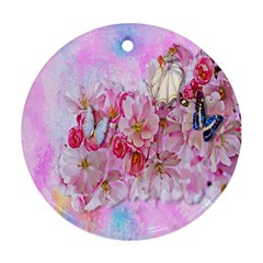 Nice Nature Flowers Plant Ornament Ornament (round)