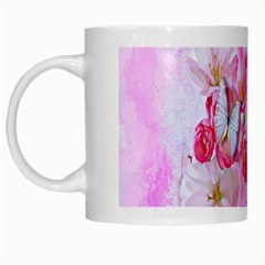 Nice Nature Flowers Plant Ornament White Mugs