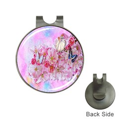 Nice Nature Flowers Plant Ornament Hat Clips With Golf Markers