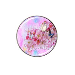 Nice Nature Flowers Plant Ornament Hat Clip Ball Marker (10 Pack)