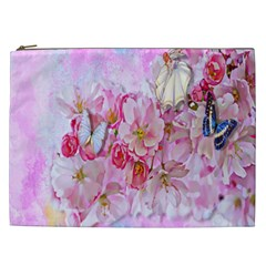 Nice Nature Flowers Plant Ornament Cosmetic Bag (xxl)
